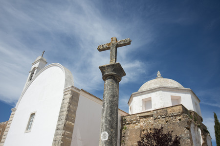 convento: the church Convento do Santo Antonio in the town of Loule at the Algarve of Portugal in Europe.