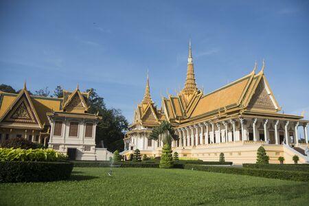 the Throne Hall of the Royal Palace in the city of Phnom Penh of Cambodia. Cambodia, Phnom Penh, November, 2017,