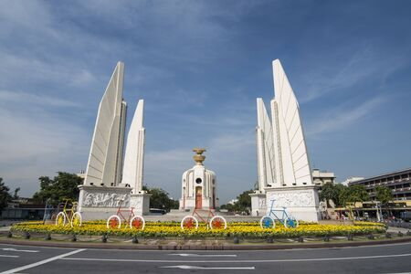 the Democracy Monument in Banglamphu in the city of Bangkok in Thailand in Southeastasia. Thailand, Bangkok, November, 2018 Editorial