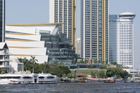 the icon siam mall in Klongsan at the chao phraya river in the city of Bangkok in Thailand in Southest Asia. Thailand, Bangkok, November, 2019 Editorial