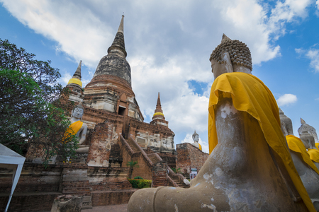 phra nakhon si ayutthaya: Wat Yai Chai Mongkhol, Phra Nakhon Si Ayutthaya, Thailand.