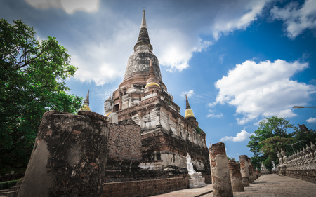 chai: Wat Yai Chai Mongkhol, Phra Nakhon Si Ayutthaya, Thailand.