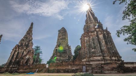 chai: Wat Chai Watthana Ram, Phra Nakhon Si Ayutthaya, Thailand Stock Photo