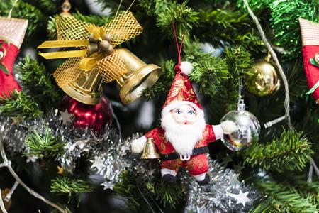jingle bell: Jingle bell and  hanging on a Chrismas tree.
