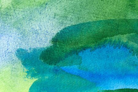 blue and green watercolors on paper texture, background design, hand painted element