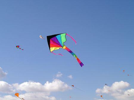 Flying kite 版權商用圖片