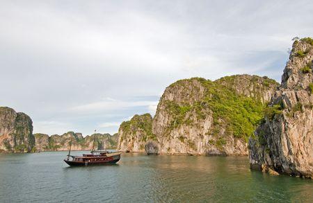 long bay: Junk Boat in Ha Long Bay