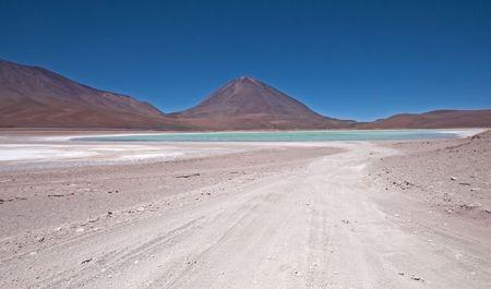 laguna: Laguna Verde in Bolivia Stock Photo