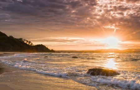 byron: Moody Sunset over Byron Bay