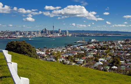 Auckland City from Mt. Vicotria  photo