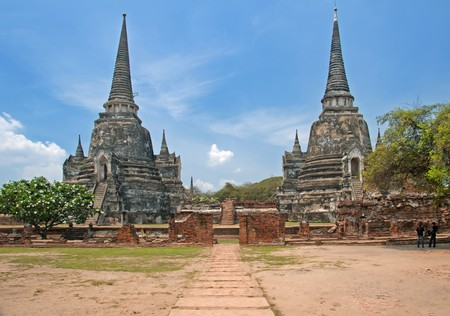 Temples at the Unesco World Heritage Site in Ayuthaya, Thailand. photo