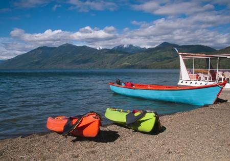 pepples: Kayaking on Largo (Lake) Caburgua Pucon, Chile.