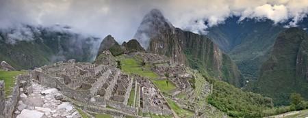 Panoramic of Machu Picchu, Peru photo