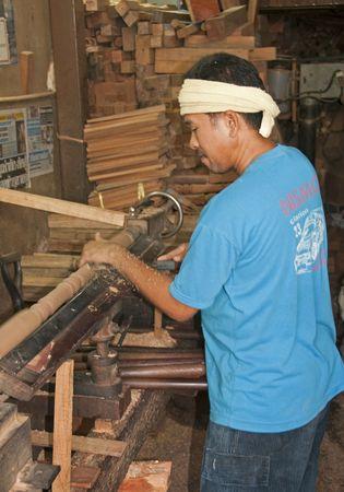 Bangkok, Thailand, March 2010 - Local Carpenter