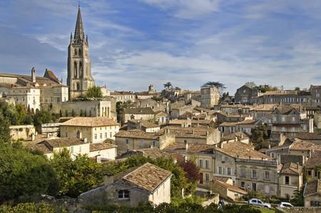 Rooftops of Saint Emilion in Bordeaux - A Unesco World Heritage Site.