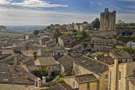 Rooftops of Saint Emilion in Bordeaux - A Unesco World Heritage Site. Stock Photo - 7478460