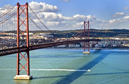 The 25th of April Suspension Bridge in Lisbon, Portugal. Stock Photo - 7478298