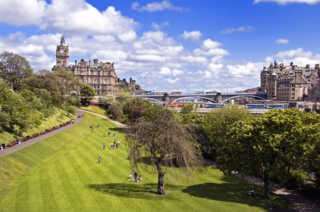 East Princes Street Gardens in Edinburgh, Scotland Stock Photo