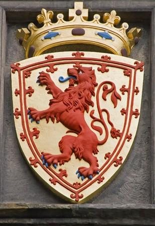 Close-up details on Edinburgh Castle, Scotland. photo