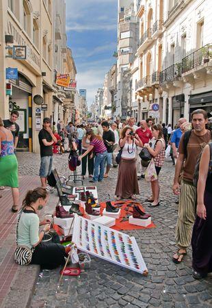 street market: San Telmo Street Market, Buenos Aires, Argentina, March 7th 2010