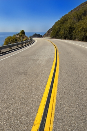 Pacific Coast Highway - Highway 1, California. The coastal highway between Los Angeles and San Francisco.  Stock Photo - 7526768