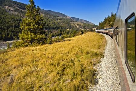 록키 산맥을 가로 지르는 여행, 캐나다 스톡 콘텐츠 - 7556034