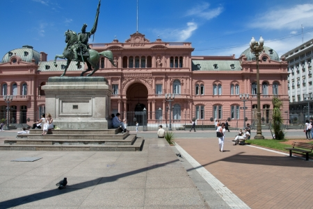 La Casa Rosada in Buenos Aires, Argentina on the 12th November 2009.  Editorial