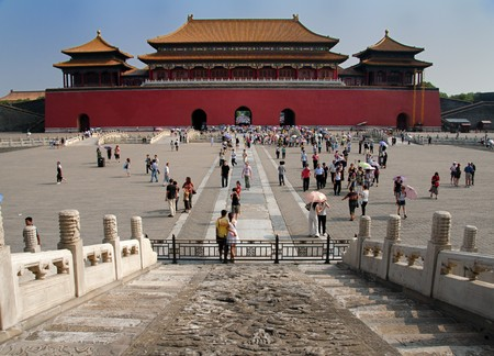 The front entrance to The Forbidden City in Beijing, China, July 20 2010. To relieve congestion 70% of the Forbidden City is to open to the public by 2020, instead of the current 30%.