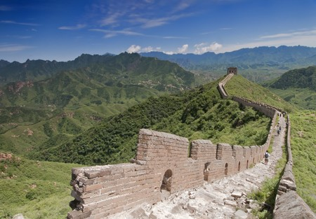 The Great Wall of China between Jinshanling and Simatai. photo