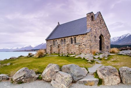 tekapo: Church of the Good Shepherd, Lake Tekapo, New Zealand.