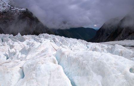 franz: Franz Josef Glacier in New Zealand. Stock Photo