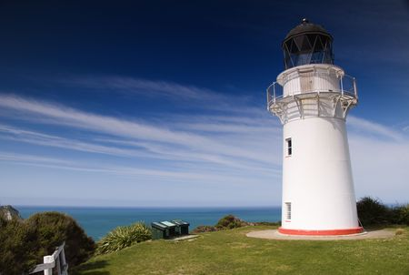 East Cape Lighthouse in New Zealand. photo
