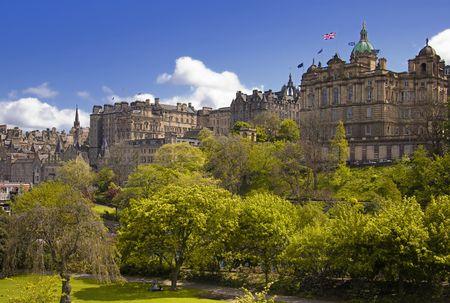 princes street: Edinburgh from East Princes Street, Scotland Stock Photo