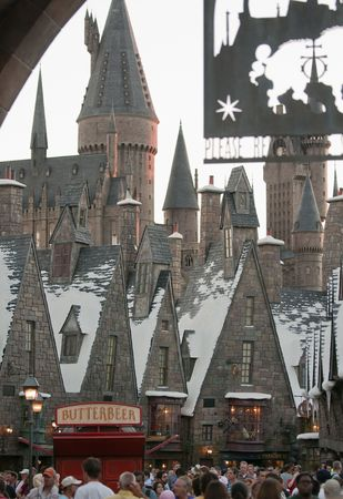 harry: Wizarding World of Harry Potter, Florida, 15th October 2010. It took 5 years and cost approximately $265 million to build. Editorial