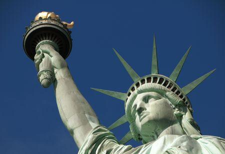 liberty island: Statua della libert� sulla libert� Archivio Fotografico