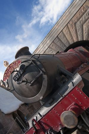 harry: Hogwarts Express Train at the Wizarding World of Harry Potter, Florida, 15th October 2010.  It took 5 years and $265 million to build. Editorial