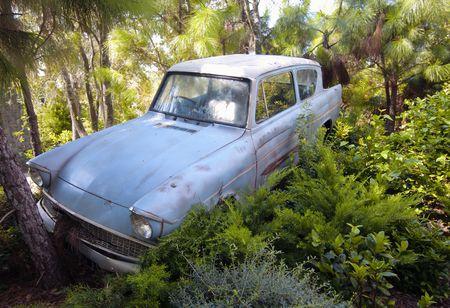 ford: De Enchanted auto op de wizarding wereld van Harry Potter, Florida, 15 oktober 2010.  Het duurde 5 jaar en 265 miljoen dollar op te bouwen.