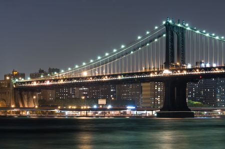 Manhattan and Brooklyn Bridge from Brooklyn photo