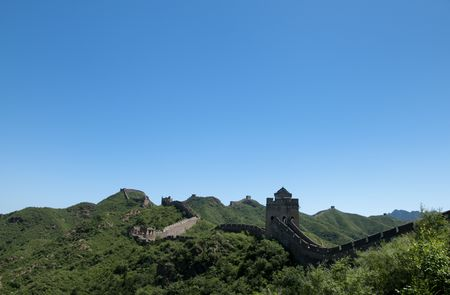 jinshaling: The Great Wall of China on a beautiful day