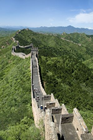 feats: The Great Wall of China on a beautiful day