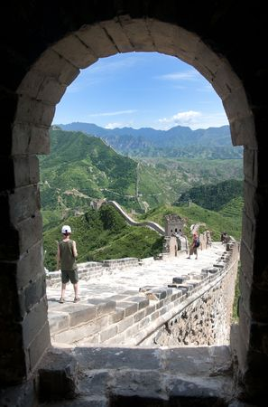 simatai: The Great Wall of China on a beautiful day