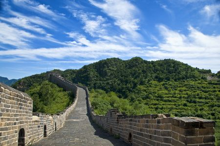 The Great Wall of China on a beautiful day photo