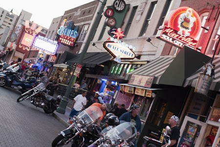 declared: Beale Street at night in Memphis on September 30 2010. Beale Street was officially declared the  Editorial