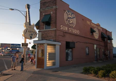 Sun Studio in Memphis, September 30th 2010. Famous artists like Johnny Cash, Elvis Presley, Carl Perkins, Roy Orbison, Charlie Feathers, Ray Harris, Warren Smith, Charlie Rich, and Jerry Lee Lewis all recorded their first songs here.