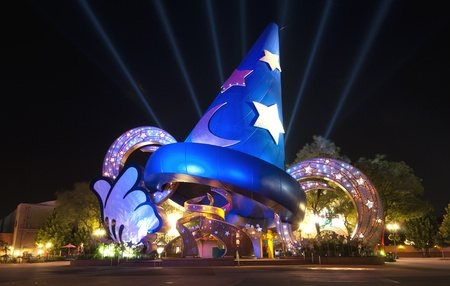 Sorcerer's Hat at Disney's Hollywood Studios, Walt Disney World, Florida.