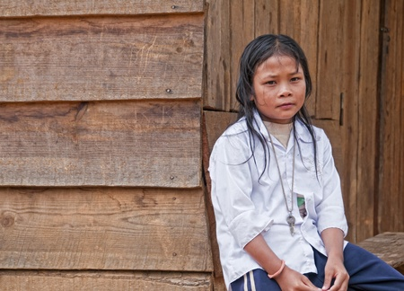 Portrait of an unidentified child in Dalat, Vietnam, June 19, 2010. According to CIA, the school life expectancy in Vietnam (primary to tertiary education) is 10 years (16 years in the US).