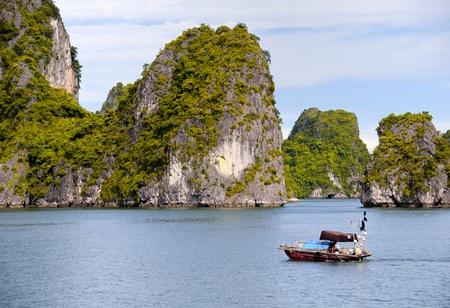 Fishing Boat in Halong Bay, Vietnam photo