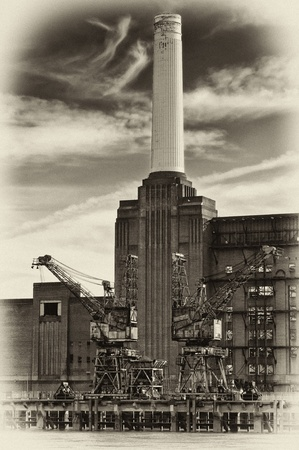 battersea: Battersea Power Station in London. Stock Photo