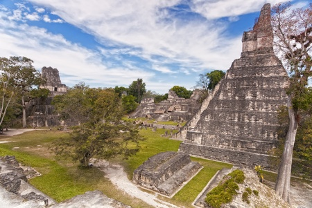 guatemala: Mayan ruins of Tikal in Guatemala