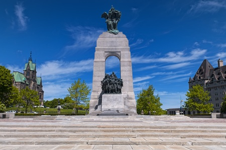 The National War Memorial in Ottawa, Canada. photo